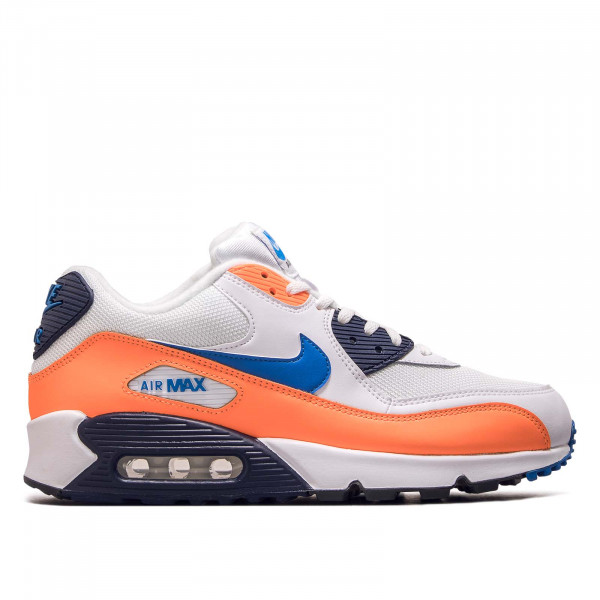 Herren Sneaker Air Max 90 Essential White Blue Orange