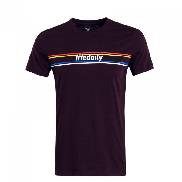 Herren T-Shirt Radiotype Aubergine