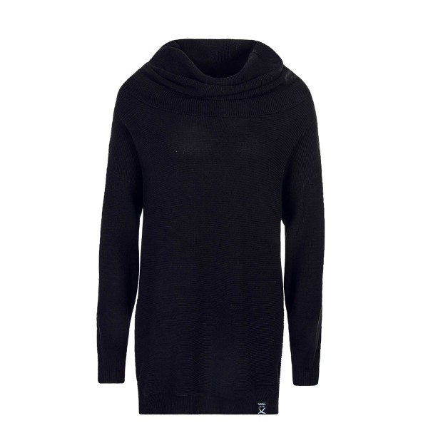 Iriedaily Wmn Knit Mock Turtle Black