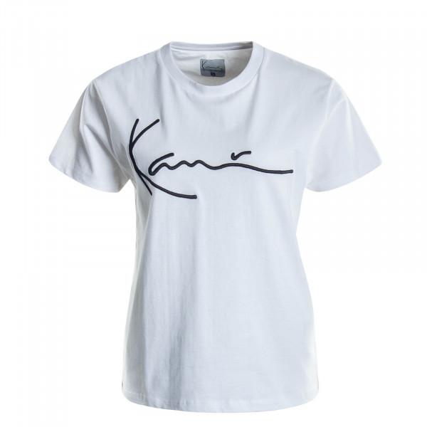 Damen T-Shirt Signature White Black