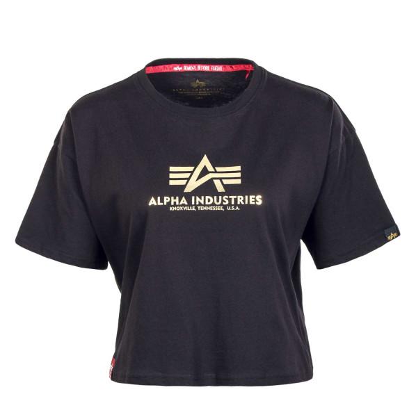 Damen T-Shirt - Basic COSFoil Print - Black / Yellow / Gold