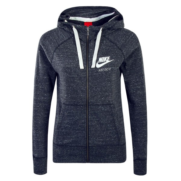 Nike Wmn Sweatjkt Gym Grey