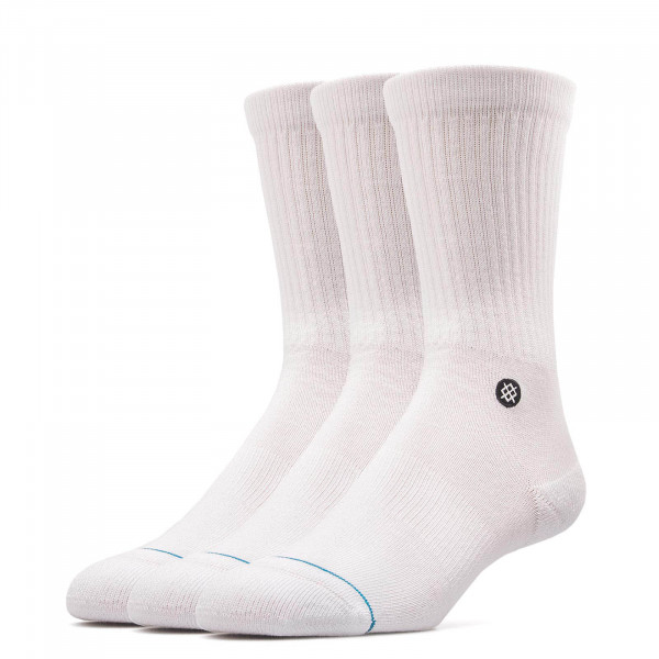 Stance Socks Uncom Solids Icon 3Pack Wht