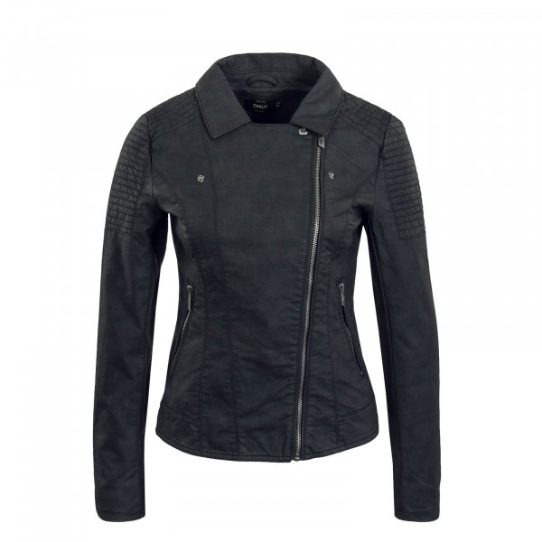 Damen Jacke Megan Faux Leather Biker Black