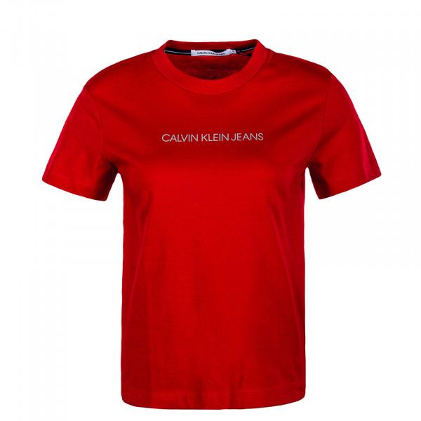 Damen T-Shirt - Shrunken Institutional Modern - Red Hot