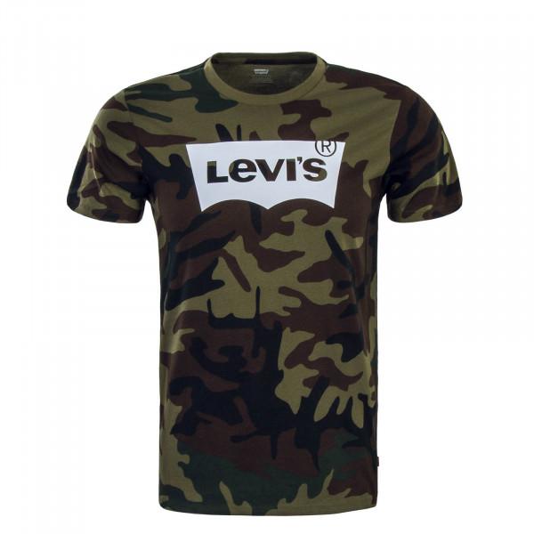 Levis TS Housemark Graphic Camo Green