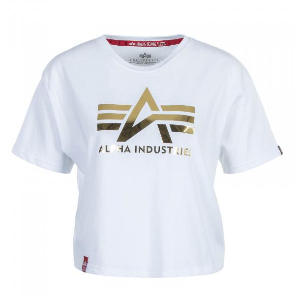 Damen T-Shirt Big A T White
