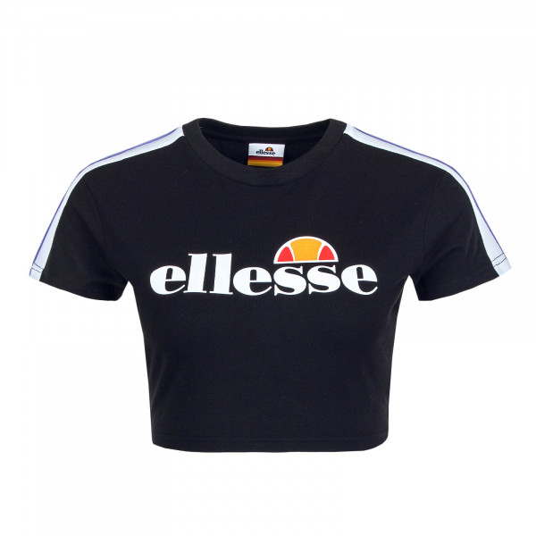 Damen T-Shirt Crop Bobbie Black