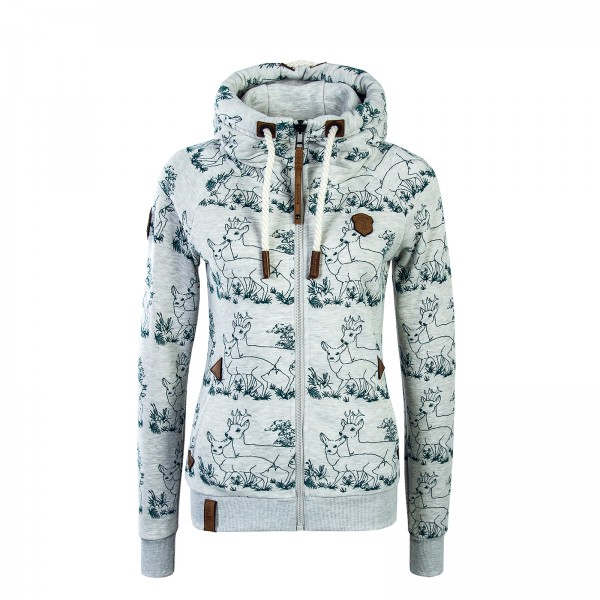 Naketano Wmn Sweatjacke Zbigniew Stone Grey