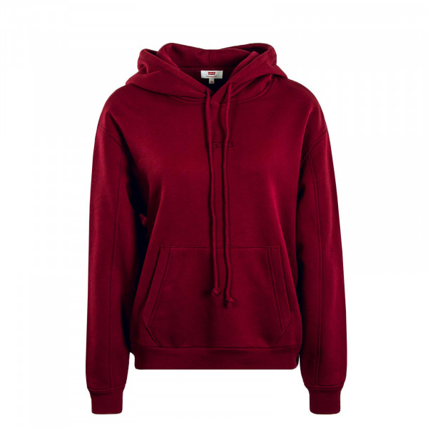 Damen Hoody Graphic Varsity Bordeaux