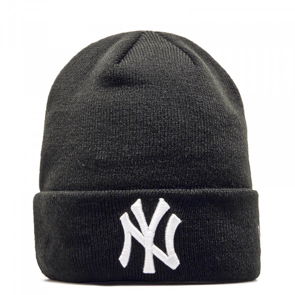 New Era Beanie NY Black White