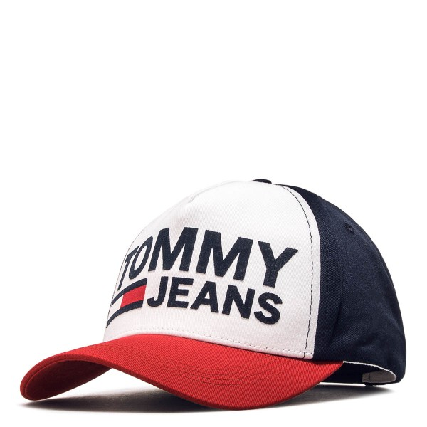 Tommy Cap TJU Flock Navy White Red