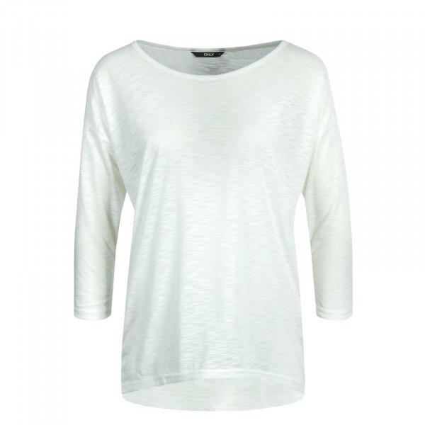 Damen Longsleeve 3/4 Casa Solid Slub Off White