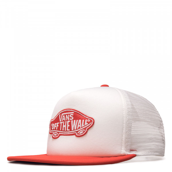 Unisex Cap - Classic Patch Trucker - White / Risk / Red