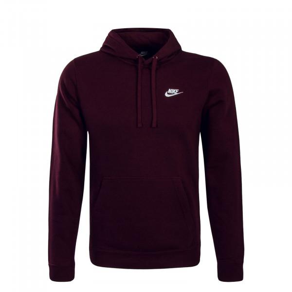 Nike Hoody NSW FLC Club Bordo White