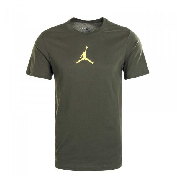 Herren T-Shirt Jumpman DF Crew Green Yellow