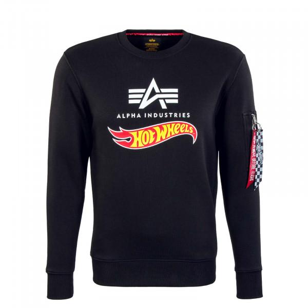 Herren Sweatshirt - Hot Wheels Flag - Black