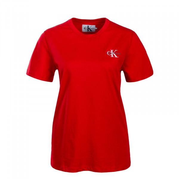 CK Wmn T-Shirt Monogram Red