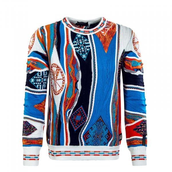 Herren Pullover - C9911 591 - Blue / Orange / White