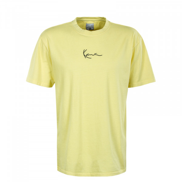 Herren T-Shirt - Small Signature Washed - Light Yellow