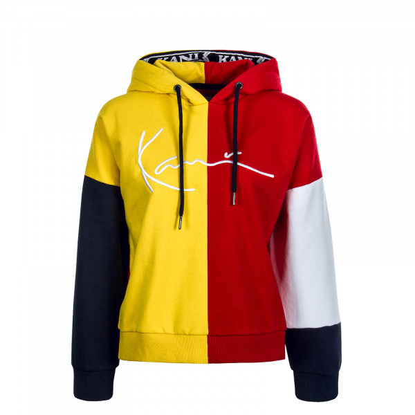 Damen Hoody Signature Tape Yellow Red