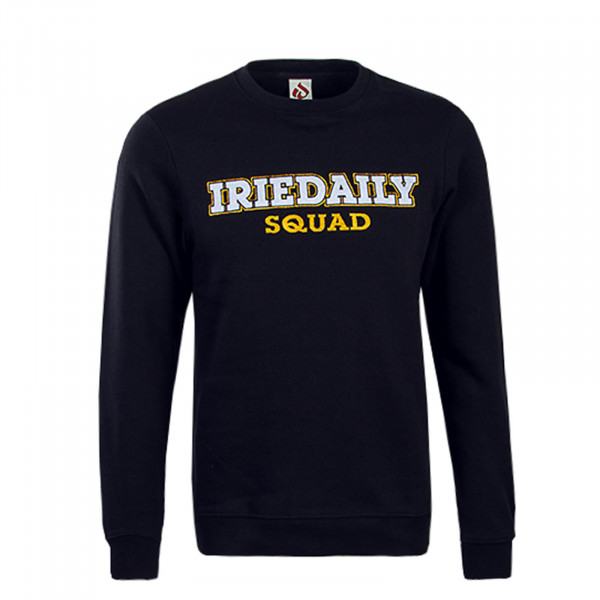 Iriedaily Sweat ID Squad Black White