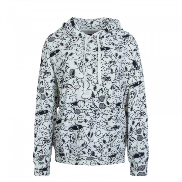 Damen Hoody Snoopy AOP White Black