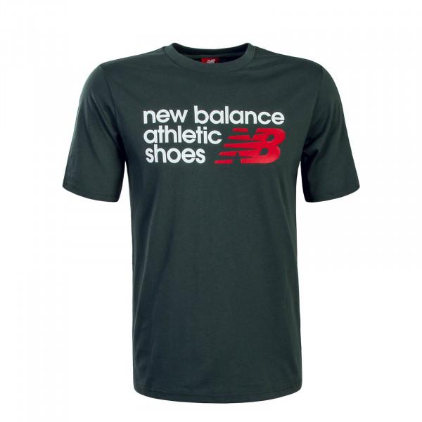 Herren T-Shirt MT83541 Olive White