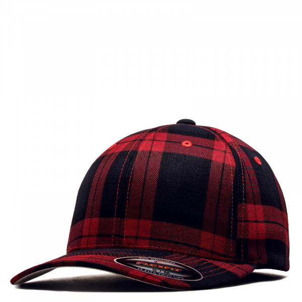 Cap Tartan Plaid 6197 Black Red