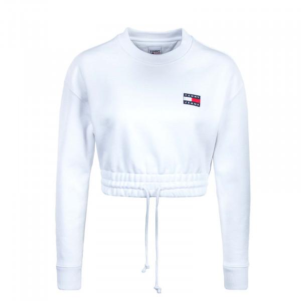 Damen Longsleeve - Super Cropped Sweat 9797 - White