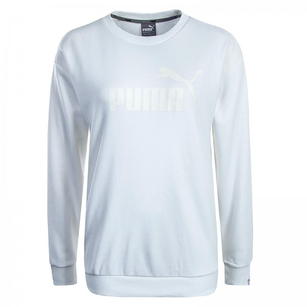 Puma Wmn Sweat ESS No.1 White