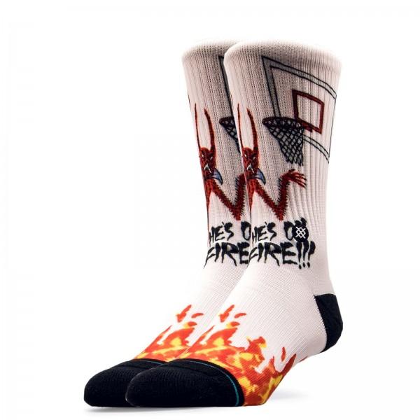Stance Socks Anthem Neckface On Fire Wht