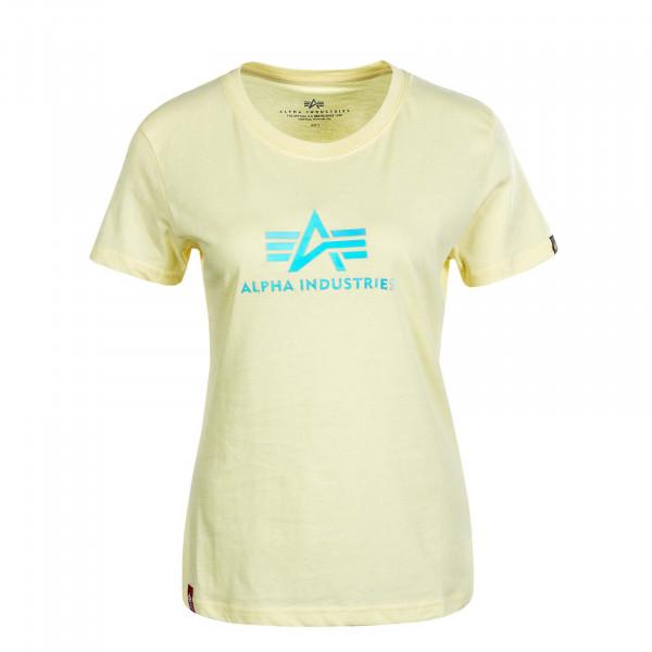Damen T-Shirt Rainbow Pastel Yellow