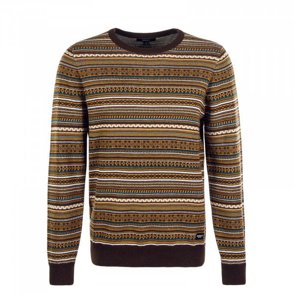 Herren Pullover Knit Mineo Brown
