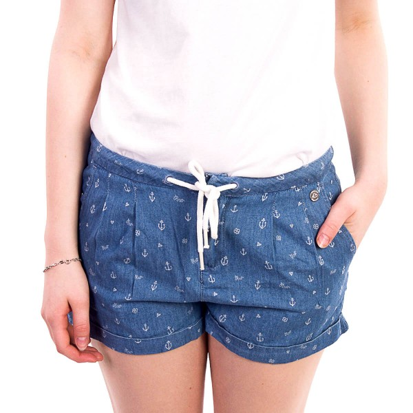 Ragwear Wmn Short High Denim Light Blue