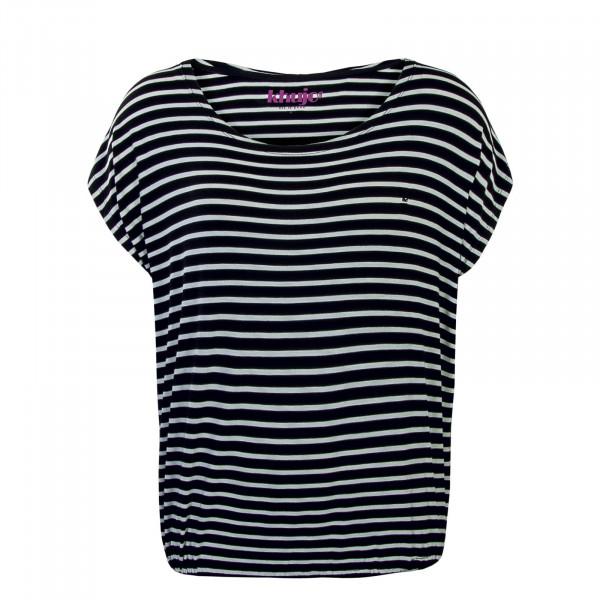 T-Shirt Meltania White Black Stripe