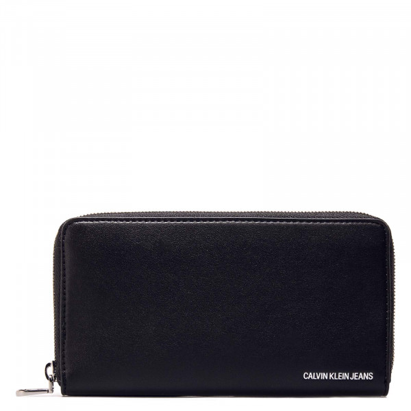 Wallet Sculpted Zip Black