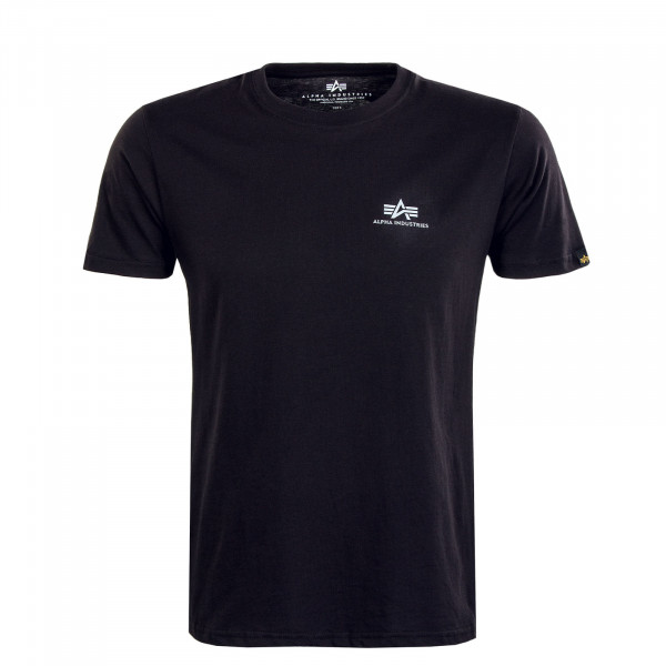 Herren T-Shirt - Basic T Small Logo Reflective - Black