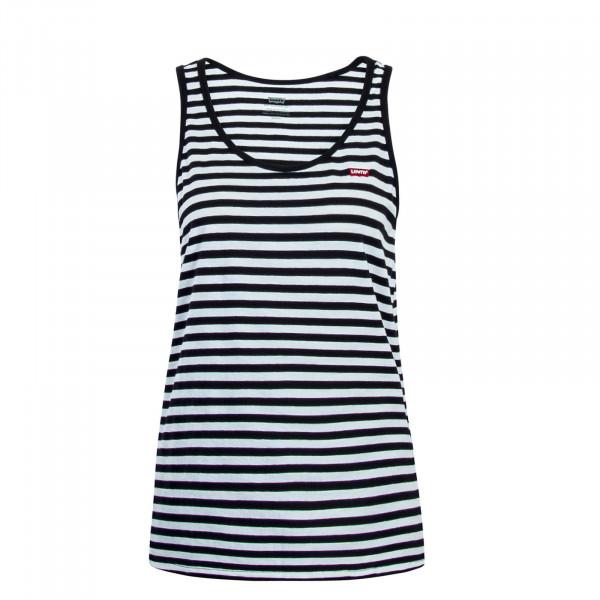 Damen Top Bobbi Stripe White Black