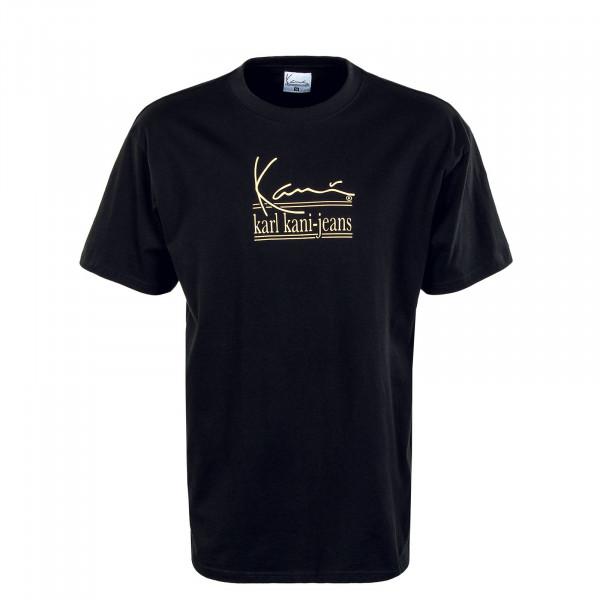 Herren T-Shirt - Signature Karl Kani Jeans - Black