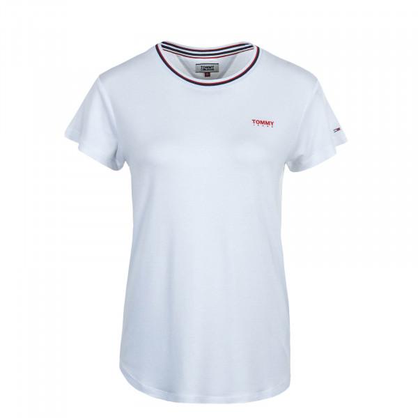 Damen T-Shirt Rib White