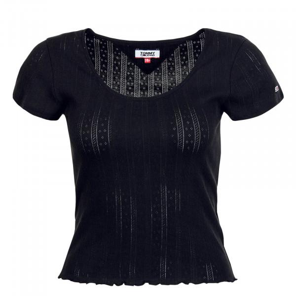 Damen T-Shirt Babylock Detail Tee 8526 Black