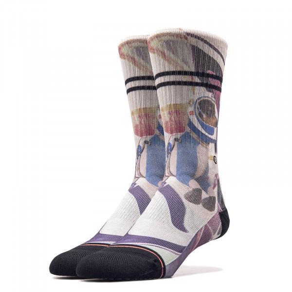 Damen Socken Astrodog Fuchsia White
