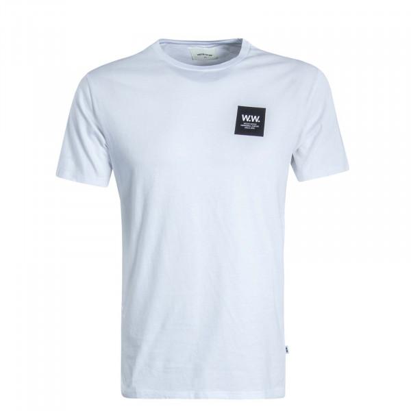 Herren T-Shirt Box White Black