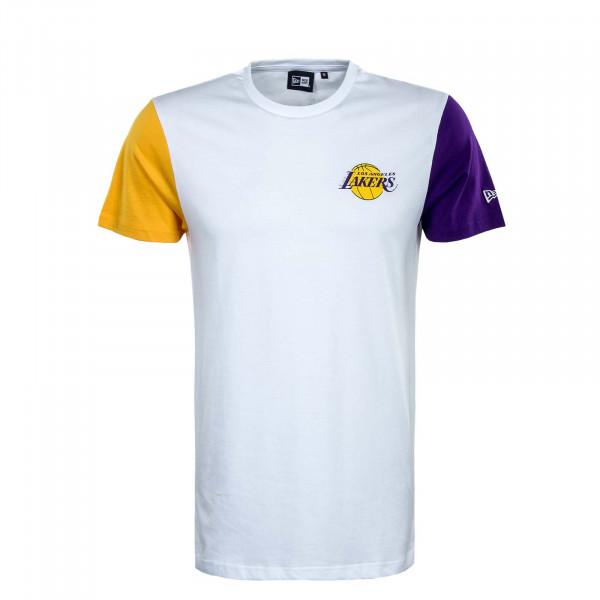 Herren T-Shirt - NBA Color Block LA Lakers - White