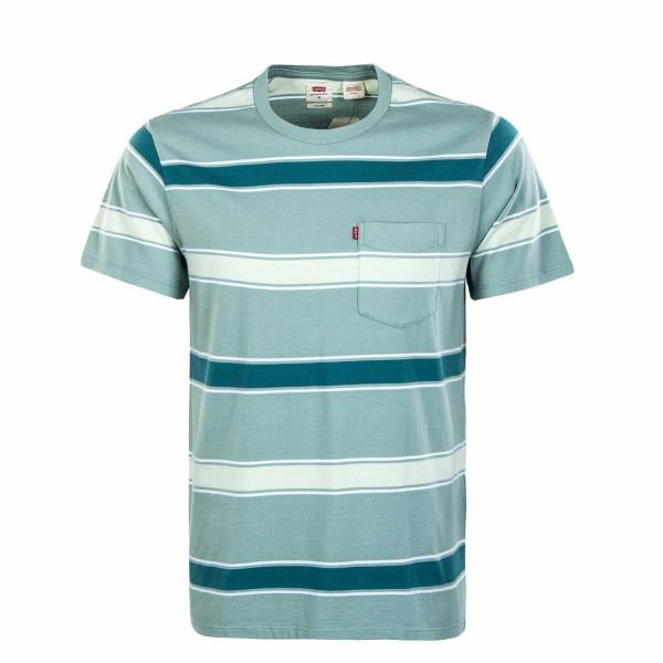 Herren T-Shirt - Relaxed Fit Pocket - Poolside