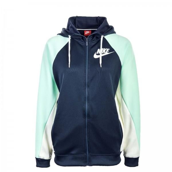 Nike Wmn Sweatjkt NSW Hoodie Navy Mint