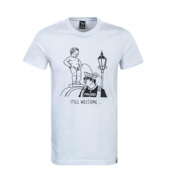 Herren T-Shirt Still Welcome White
