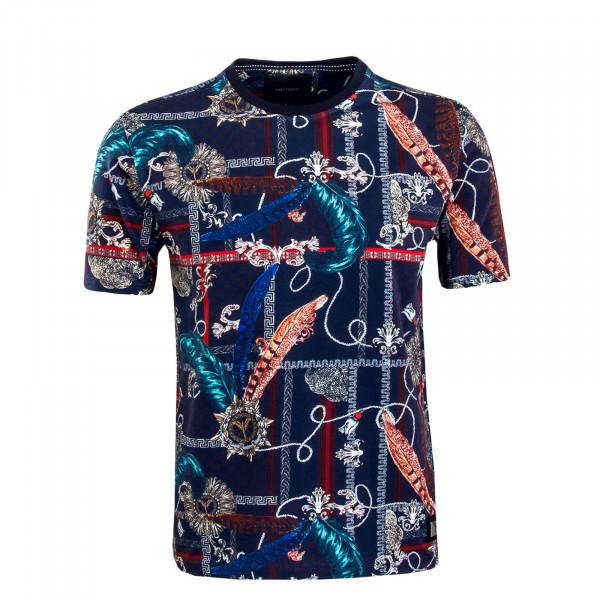 Herren T-Shirt C3820 Navy Red Blue