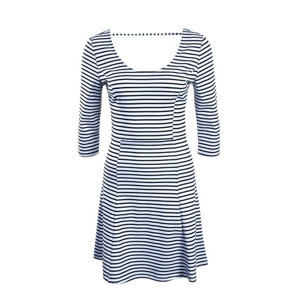 Only Dress Esra 3/4 Stripe  White Black